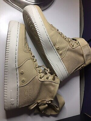 watch 09942 ddf6e Nike SF AF1 Air Force 1 MID Women s Shoes Size 6 Mushroom Light Bone AA3966