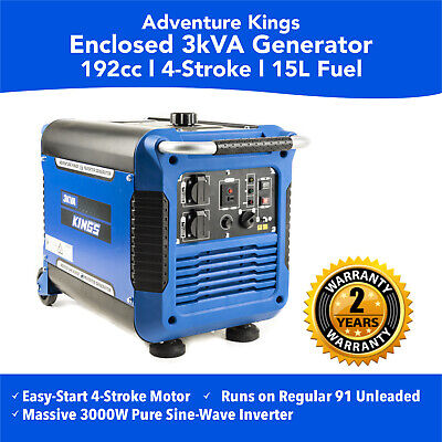 New 3KVA Portable Inverter Generator Genset Portable Camping Petrol Outdoor