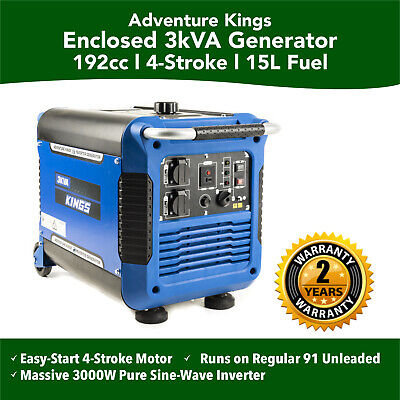 New Kings  Inverter Petrol Generator Genset Camping Portable Outdoor 3kVA Rated