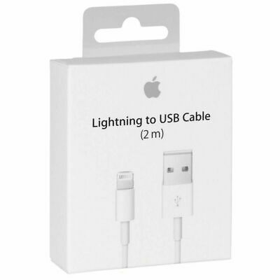2x 2M Quality Apple Lightning Charger Cable For Genuine iPhone x 7 6 5 iPad
