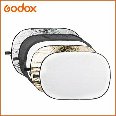 """Godox 5 in 1 Collapsible 32""""x48"""" 80x120 Oval Diffuser Reflector Disc"""