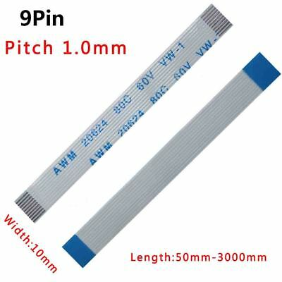 Pitch 1.0mm 9P FFC FPC Flexible Flat Cable 50mm-3000mm Forward/Reverse Width 10m