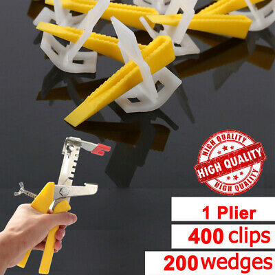 Tile Leveling System Clips + Wedges Floor Wall Plastic Spacers Kit New