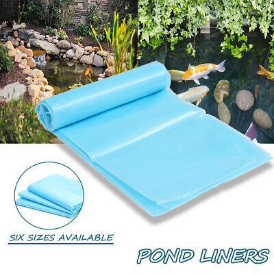 UK Blue HDPE Heavy Duty Pond Fish Pool Liner Gardens Ponds in Various Sizes New