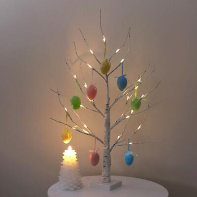 Easter Tree with Lights for Ornaments Decorations Hanging Easter Eggs White 60cm