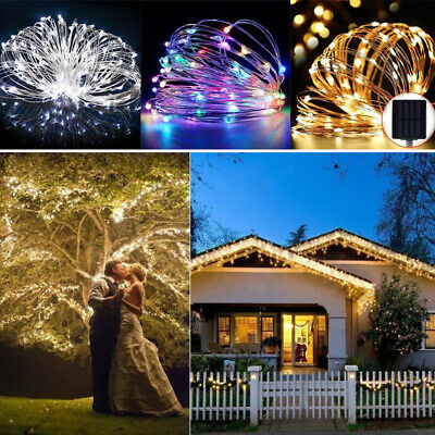 100/200LED Solar String Lights Waterproof Copper Wire Fairy Outdoor &Garden Xmas