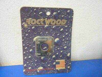 Rockwood KE-701GE,Stainless Steel Switch Plate Ground Effects Emblem,NEW