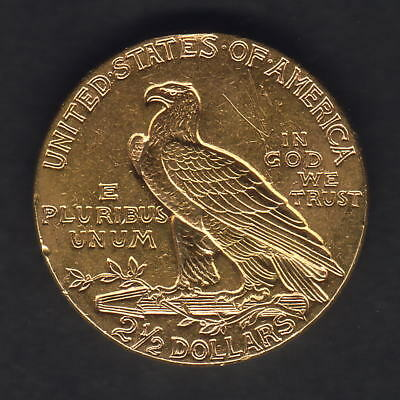 U.S.A. 1928 Gold 2 1/2 Dollars - Quarter Eagle..  aEF - Part Lustre