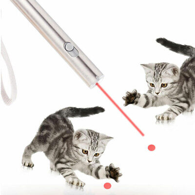 2 in 1 Funny Pet Laser Pointer LED Light Red Interactive Cat Dog Playing Toy