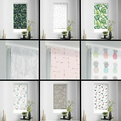 Patterned Daylight Ready Made Window Roller Blinds 45/60cm Width Various Colours
