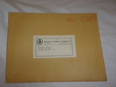 "vintage envelope new york 12x9"" american telephone & telegraph co bell system"