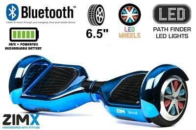 """LED Wheels Hoverboard Swegway /& HoverBike Blue 6.5/"""" Certified Chrome Bluetooth"""