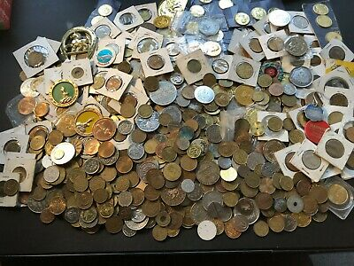 Massive Bulk Lot of 1000 Assorted Tokens! Lot#A14 Fun Group!
