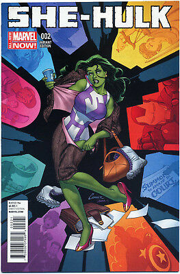 She-Hulk #2 Conner 1:50 Variant (2014) Near Mint First Print Bagged And Boarded