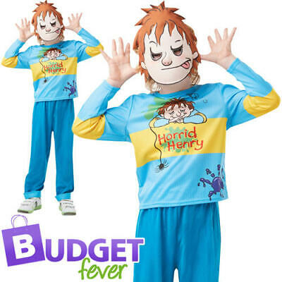 Horrid Henry Kids Fancy Dress World Book Day Week Character Boys Costume Outfit