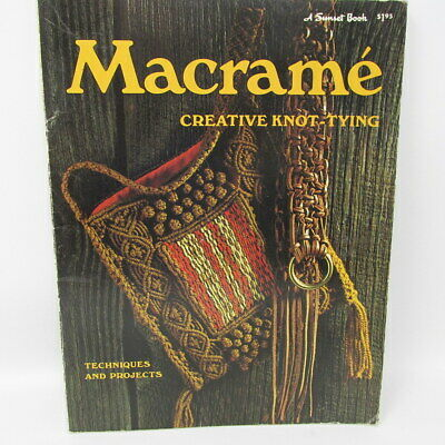 Macrame Creative Knot Tying Sunset Book 80 Pages Techniques Projects Decorate