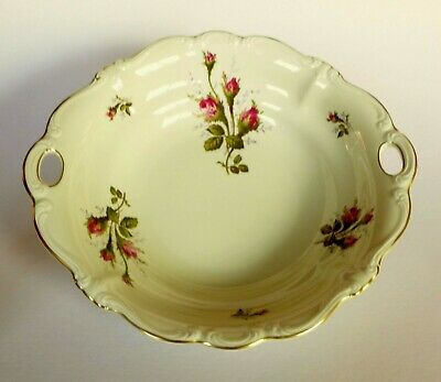 "Flawless Rosenthal Moss Rose Pompadour 11"" Vegetable Serving Bowl"