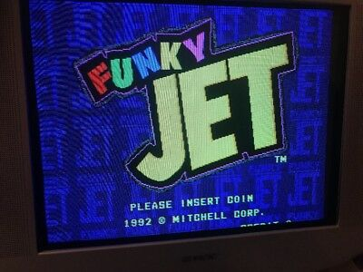 Funky Jet Jamma Pcb Original Data East/ Mitchell   ,Working 100%
