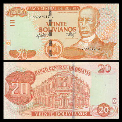 2018 P-New Bolivia First redesign in 30 years UNC /> caiman 20 Bolivianos
