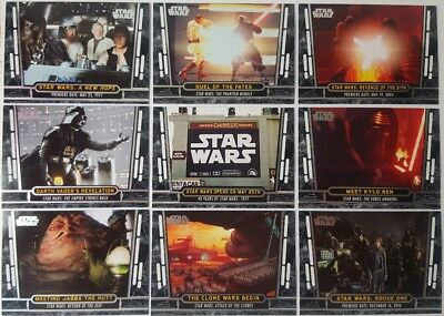 Star Wars 40th ANNIVERSARY Trading Card Set of 200 topps 2017 Base & Subsets