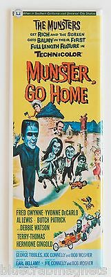 Munster Go Home FRIDGE MAGNET (1.5 x 4.5 inches) insert movie poster munsters