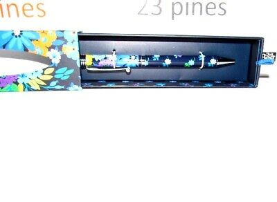 Vera Bradley Refillable Ball Point Ink Pen Rare Midnight Blues New In Box