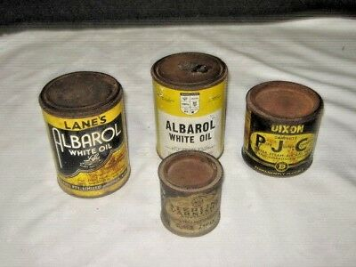 4 x Assorted Old Imperial Garden Carpentry & Plumber Adhesive Workshop Tins