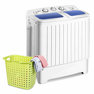Portable Mini Compact Twin Tub 17.6lb Washing Machine Washer Spinner Dryer