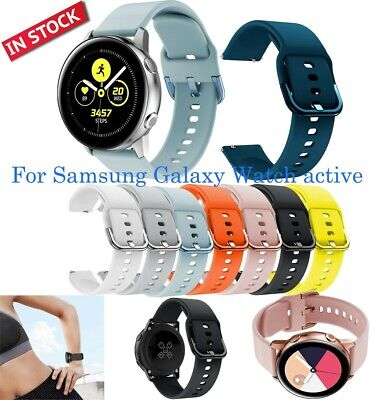 Sports Soft Silicone Gel Replacement Band Strap For Samsung Galaxy Watch Active