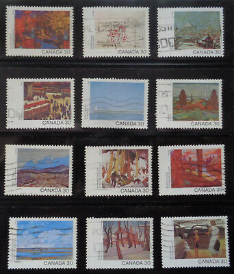 CANADA#955-966 used 1982 complete set 12 Canada Day paintings. 2018 SCV $7.80
