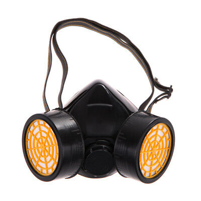 Dual Gas Filter Anti Dust Paint Respirator Mask Goggles Industrial Safety E0Xc
