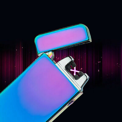 USB High-quality Dual Flameless Rechargeable Lighter Arc Electric Windproof