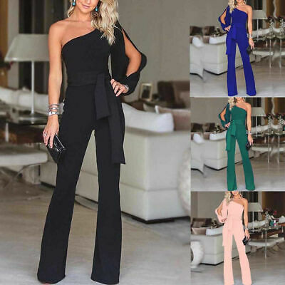 Womens Jumpsuit Romper Bodycon Playsuit Clubwear Trousers Party Long Dress Pants