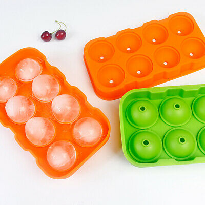 8 Grids Mini Small Ice Cube Tray Frozen Cubes Trays Silicone Ice Mold Tool Gift