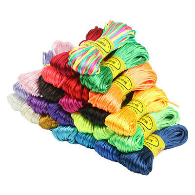 20M 2.5mm String Silk Cord Satin Nylon Solid Rope For Jewelry Bracelet Beading