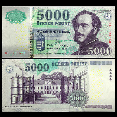 5000 Forint P-New Hungary redesigned UNC 2016
