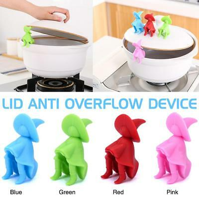 Creative Lid Raising  Anti Overflow Heightening Device Silicone Pot Lid Holder