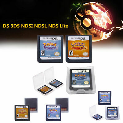 Lite Pokemon HeartGold SoulSilver Game Card For Nintendo 3DS NDSI NDSLL NDS