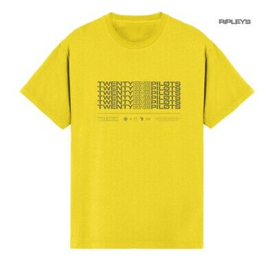 Official T Shirt 21 Twenty One Pilots Yellow STACKER Logo Trench All Sizes