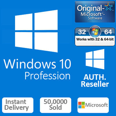 Genuine Windows 10 Professional Pro Key 32|64Bit Activation Code License Key