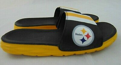 steelers nike slides