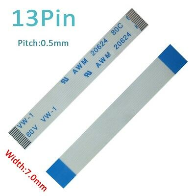 Pitch 0.5mm 13-Pin FFC FPC Flexible Flat Cable 50mm-3000mm Forward/Reverse W:7mm