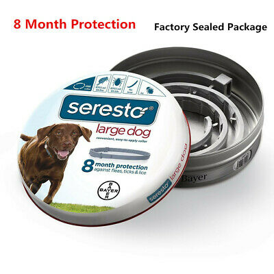 Bayer Seresto Flea and Tick Collar for Large Dog--8 Month Protection & Treatment