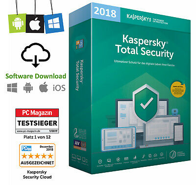 Kaspersky Total Security (1 Device / 1PC - 1 Jahr) Multi Device 2018 Vollversion