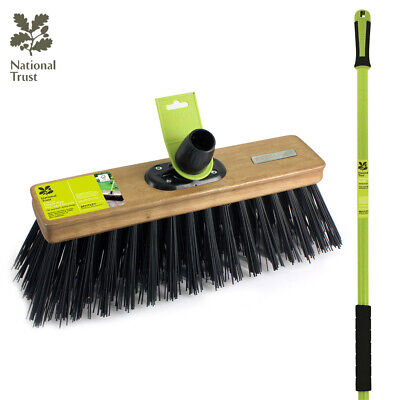 "Bentley National Trust Garden 14"" Heavy Duty Pvc Stable Yard Broom Brush"