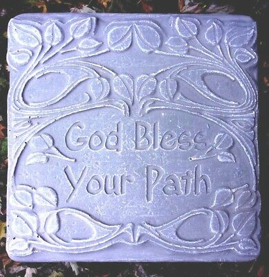 "Religious plaque plastic mold plaster concrete /""Everlasting life through Christ/"""