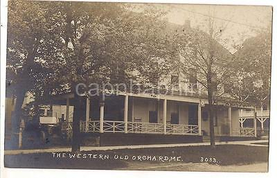 Rare? The Western OLD ORCHARD (BEACH?) MAINE ME Antique Real Photo xxxx Postcard