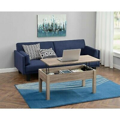 Lift Top Coffee Table Living Room Storage Table Full Extending Top