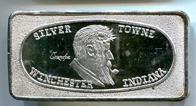 Rare Silver Towne GRANDPA 1973 1 Troy oz .999 Fine Art Bar Great Lakes Mint