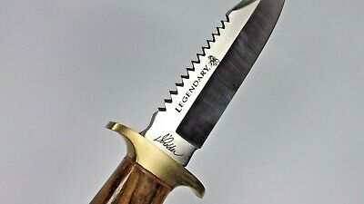 """Stone River Large Survival Hunting Bowie Knife W Fixed Serrated 6"""" Blade Nice"""